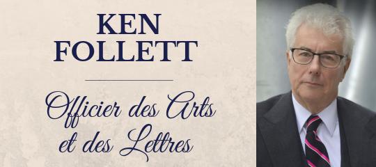 Ken Follet promu Officier des Arts et Lettres à Paris